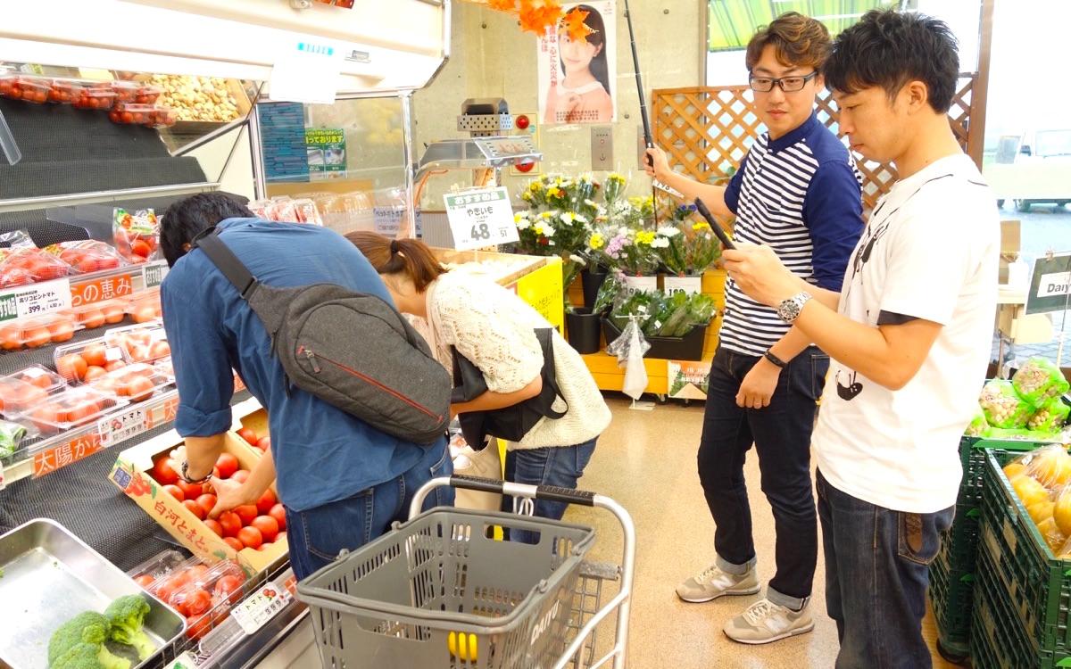 School With社員合宿 スーパーで買い出し